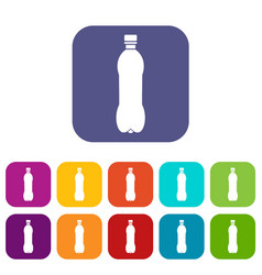 Bottle icons set vector