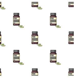 Bottle with pills of insulinpills for diabetes vector
