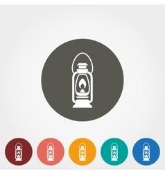 Camping lantern icon vector