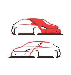 car logo transport automobile symbol vector image