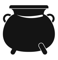 cauldron pot icon simple style vector image
