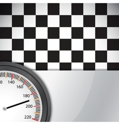 Checkered flag with metal frame vector image vector image