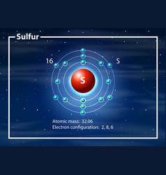 Chemist atom of cobalt diagram vector