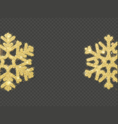 Christmas shining gold snowflake overlay object vector