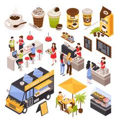 Coffee house barista set vector