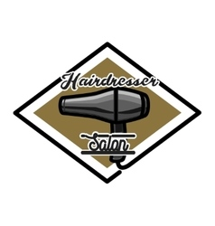 Color vintage hairdresser salon emblem vector image