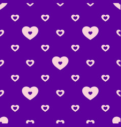 colorful seamless geometric hearts pattern vector image