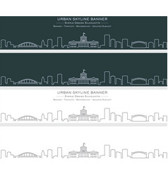 Columbus single line skyline banner vector
