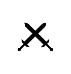 crossed swords icon element of chess for mobile vector image