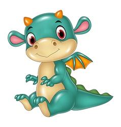 Cute baby dragon vector