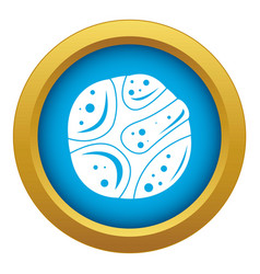 Deserted planet icon blue isolated vector