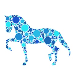 Dotted horse vector