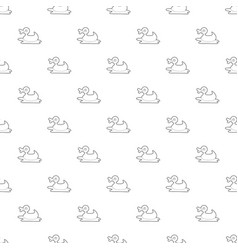 duck toy pattern seamless vector image