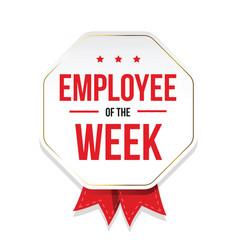 Employee week badge vector