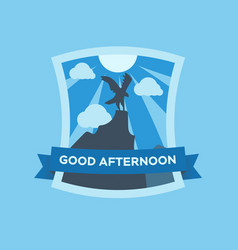 fine art postcard good day in vector image