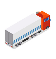 Flat design isometric tractor unit truck car with vector