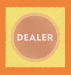 flat shading style icon chip dealer vector image