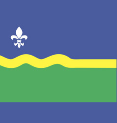 Flevoland flag vector