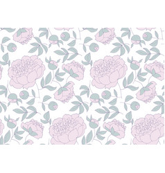 floral seamless pattern for wrapping paper vector image
