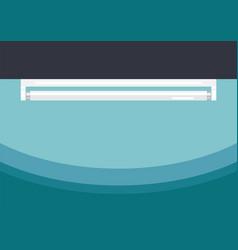 Fluorescent tube lamp flat style vector