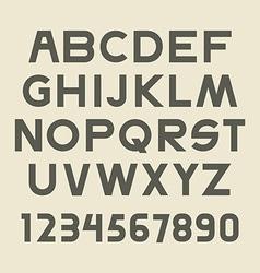 Font set vector image