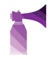 football fans air horn aerosol icon vector image
