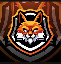 Foxes head sport mascot logo design vector