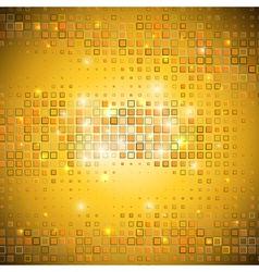 Gold mosaic vector image