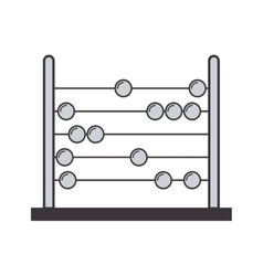 Gray silhouette abacus with base and spheres vector