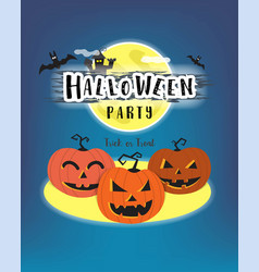 halloween day celebration concept pumpkin horror vector image