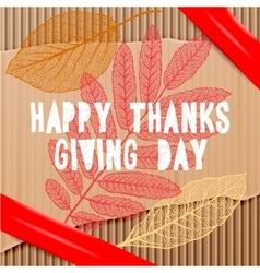 Happy thanksgiving day autumn holiday background vector
