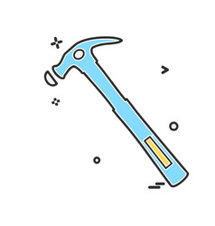 hardware tools icon design vector image