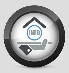 Hotel icon info vector