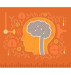 Human Brain Circuits vector image
