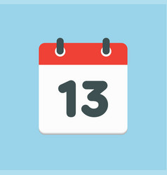icon list calendar day date number 13 vector image