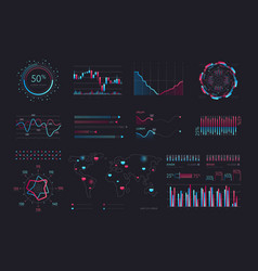 intelligent technology hud interface vector image