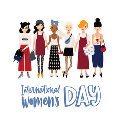 international women s day banner or postcard vector image