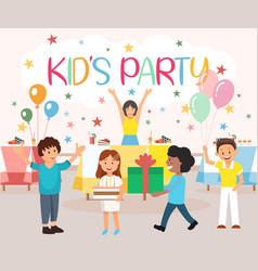 Is written kids party cartoon vector