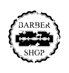 isolated emblem of barber shop vector image