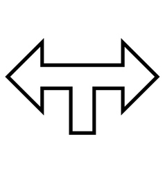 Junction Arrow Left Right Thin Line Icon vector image