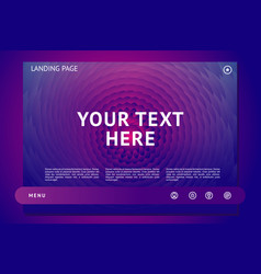 landing page template with abstract shape vector image