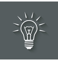 Lightbulb idea symbol vector