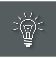 lightbulb idea symbol vector image