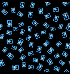 Line prostake icon isolated seamless pattern vector