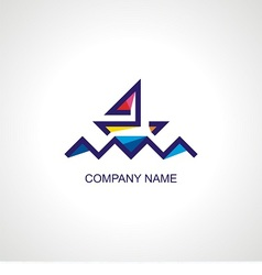 logo for travel company vector image