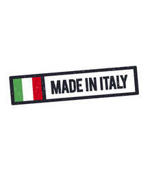 Made in italy stamp with italian flag vector