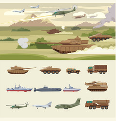 military transport concept vector image