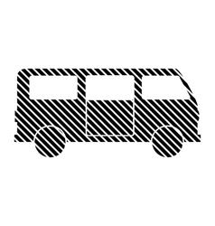 Minibus sign on white vector