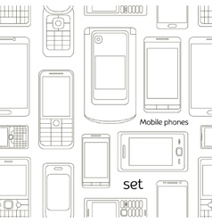 Mobile phones set pattern vector