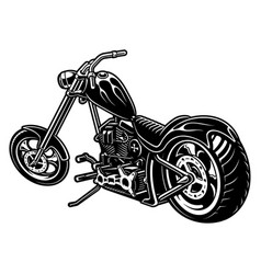 Motorcycle chopper on white bakcground vector